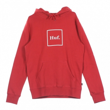 FELPA CAPPUCCIO BOX LOGO RED