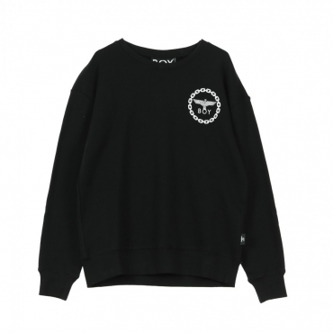 FELPA GIROCOLLO EAGLE BACKPRINT SWEAT BLACK/WHITE