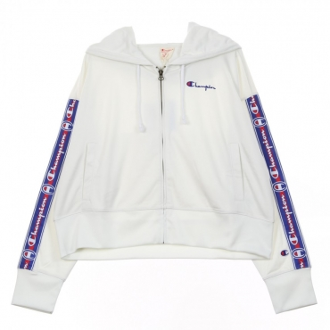 TRACK JACKET FULL ZIP TOP WHITE