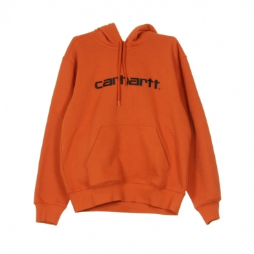 FELPA CAPPUCCIO HOODED SWEATSHIRT PERSIMMON/BLACK
