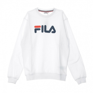 FELPA GIROCOLLO PURE CREW SWEAT BRIGHT WHITE