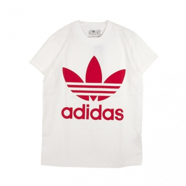 MAGLIETTA BIG TREFOIL TEE WHITE/RADIANT RED