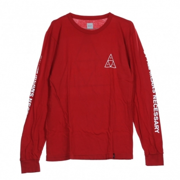 MAGLIETTA MANICHE LUNGHE ESSENTIALS TT L/S RESORT RED