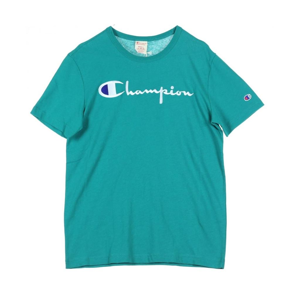 b56a7e7dbf6b10 CHAMPION - MAGLIETTA CREWNECK TEE GREEN - T-shirt |Bowdoo.com