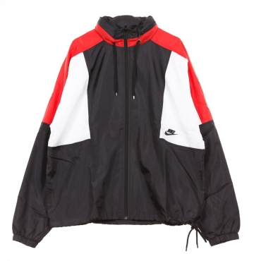 WINDBREAKER RE-ISSUE JKT WVN BLACK/UNIVERSITY RED/SUMMIT WHITE/BLACK