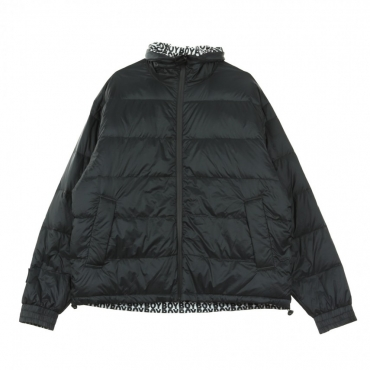 PIUMINO STRIPE EAGLE DOWN REVERSIBLE BLACK