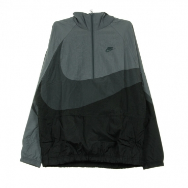 WINDBREAKER VW SWOOSH WVN HLFZIP JKT BLACK/ANTHRACITE/DARK GREY/ANTHRACITE