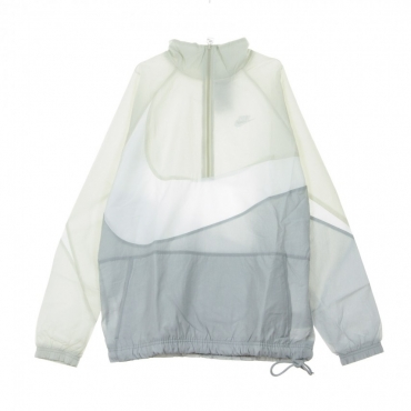 WINDBREAKER VW SWOOSH WVN HLFZIP JKT WOLF GREY/WHITE/LIGHT BONE/WHITE