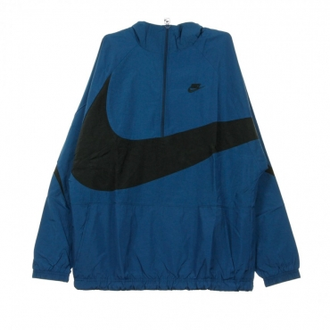WINDBREAKER VW SWOOSH WVN HLFZIP JKT BLUE FORCE/BLACK/BLUE FORCE/BLACK