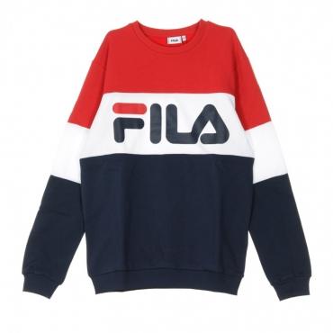 FELPA GIROCOLLO STRAIGHT BLOCKED CREW BLACK IRIS/TRUE RED/BRIGHT WHITE