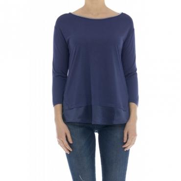 T-shirt donna - Alfia t-shirt girocollo 74097 - Blu