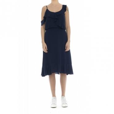 Vestito - Jesca vestito rouge volan incrocio 74097 - Blu
