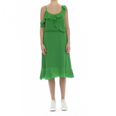 Vestito - Jesca vestito rouge volan incrocio 51929 - Verde