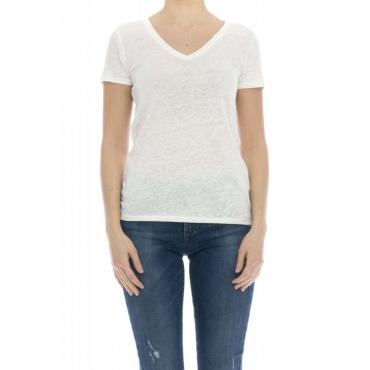 Camicia donna - J011 fts164 lino 001 - bianco