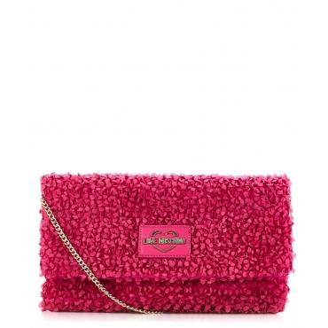 Pochette con balze Pink