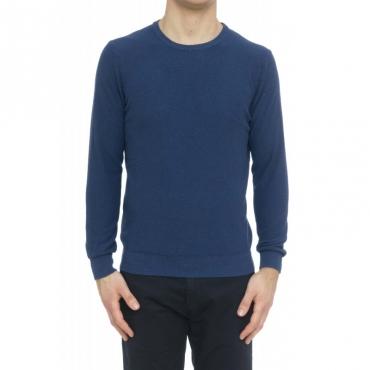Maglia uomo - 7012/01 maglia giro spugna 22 - Blu