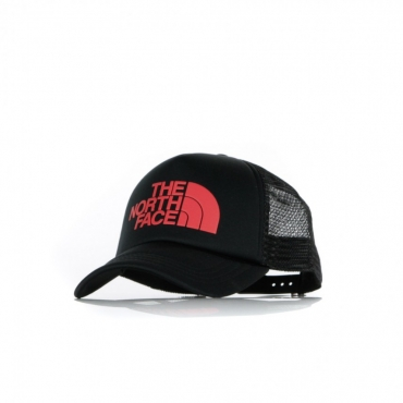 CAPPELLO SNAPBACK LOGO TRUCKER BLACK/RED