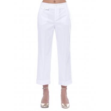 Pantalone ampio donna Liu Jo modello chino bianco