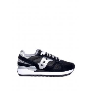 Sneaker donna Saucony Shadow Original in suede e tessuto nero AR-NERO