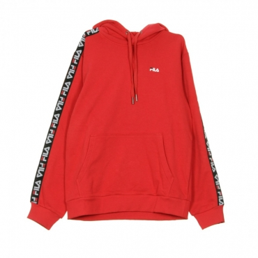 FELPA CAPPUCCIO DAVID TAPED HOODIE TRUE RED