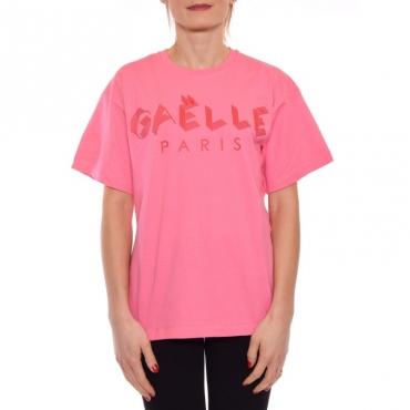 T-shirt manica corta con stampa ROSA