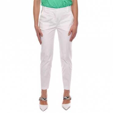 Pantalone dritto cotone BIANCO