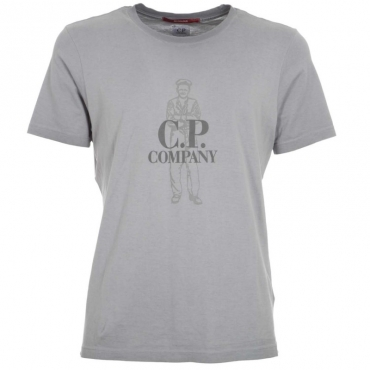 T-shirt in cotone con stampa frontale 915PALOMAGRE