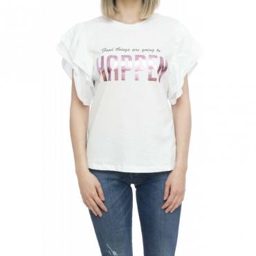 T-shirt donna - Evonne t-shirt stampa 60001 - Bianco