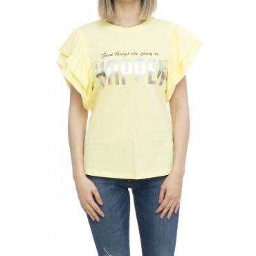 T-shirt donna - Evonne t-shirt stampa 40003 - Giallo