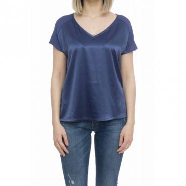 T-shirt donna - Milac t-shirt doppio tessuto 74097 - Blu
