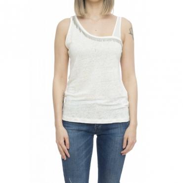 T-shirt donna - Tutina canotta 60725 - Milk