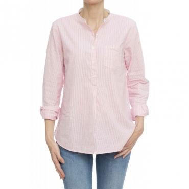 Camicia donna - S19202 camicia coreana righine 04 - rosa