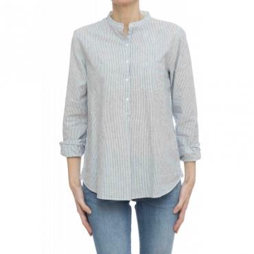 Camicia donna - S19202 camicia coreana righine 07 - Navy