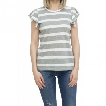 Polo - T19213 t-shirt rigata 34 - grigio