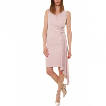 f0ecf04ad5 TUBINO DRESS WITH PINK PLISS DETAIL