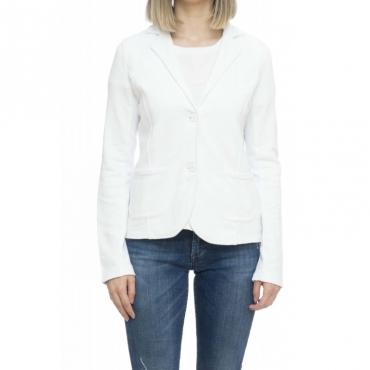 Felpa donna - F19205 giacchina felpa 01 - Bianco