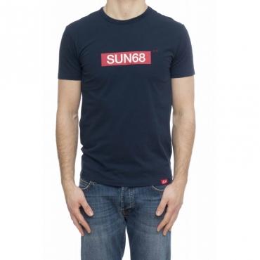 T-shirt uomo - T19105 t-shirt logo 07 - Navy