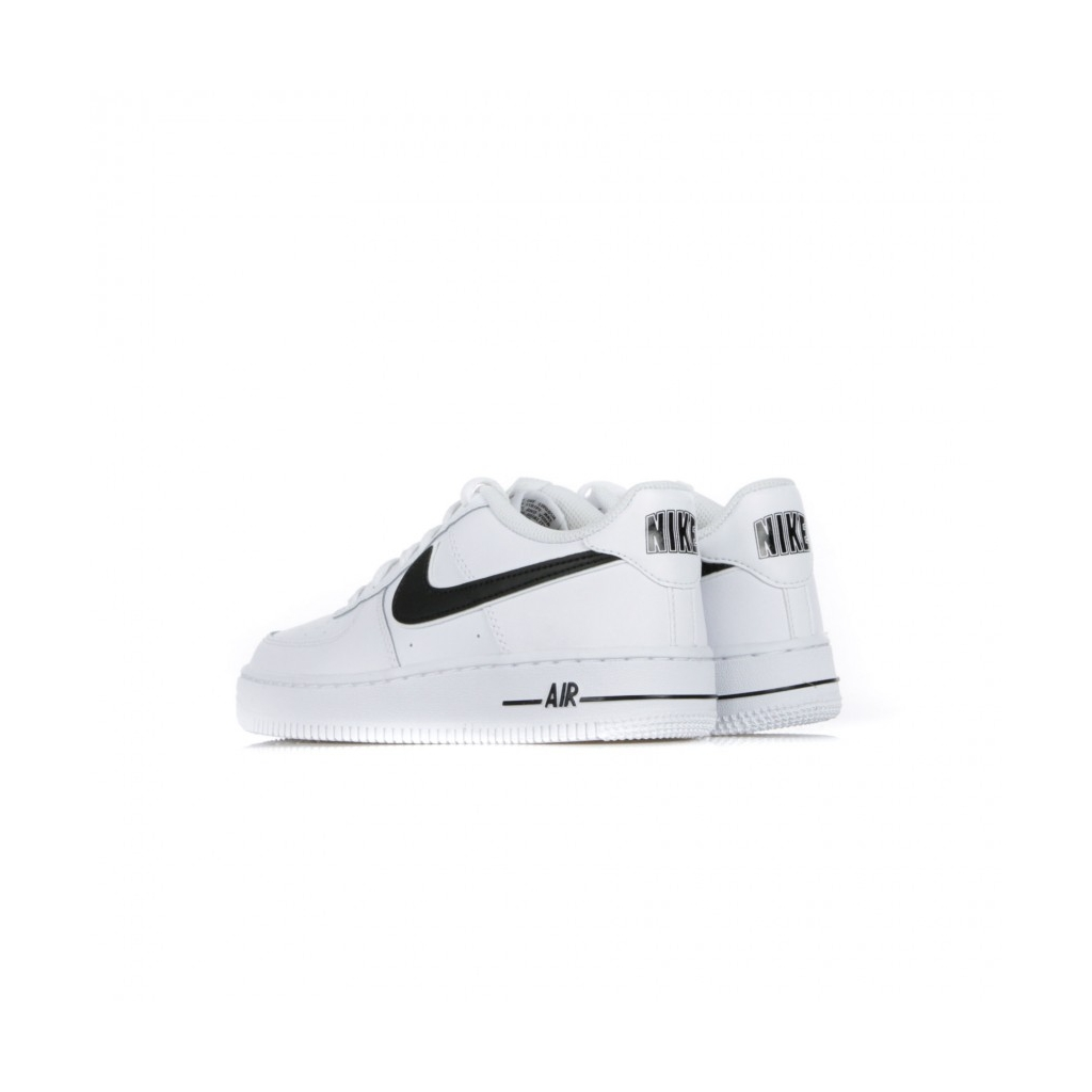 AIR FORCE LOW SHOE 1 3 GS WHITE BLACK