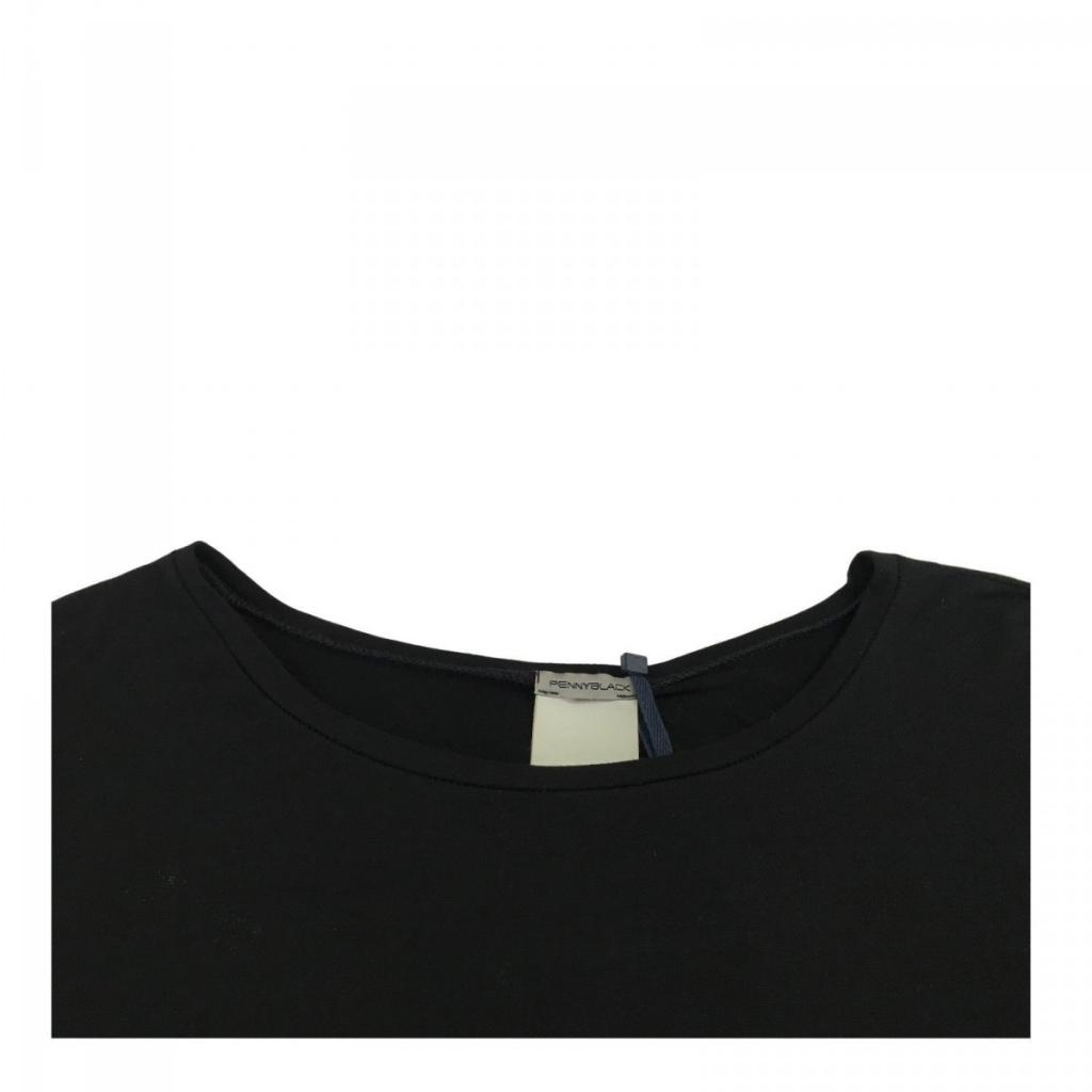 PENNYBLACK woman half sleeve over mod RABEL 93 viscose 7 elastane Black