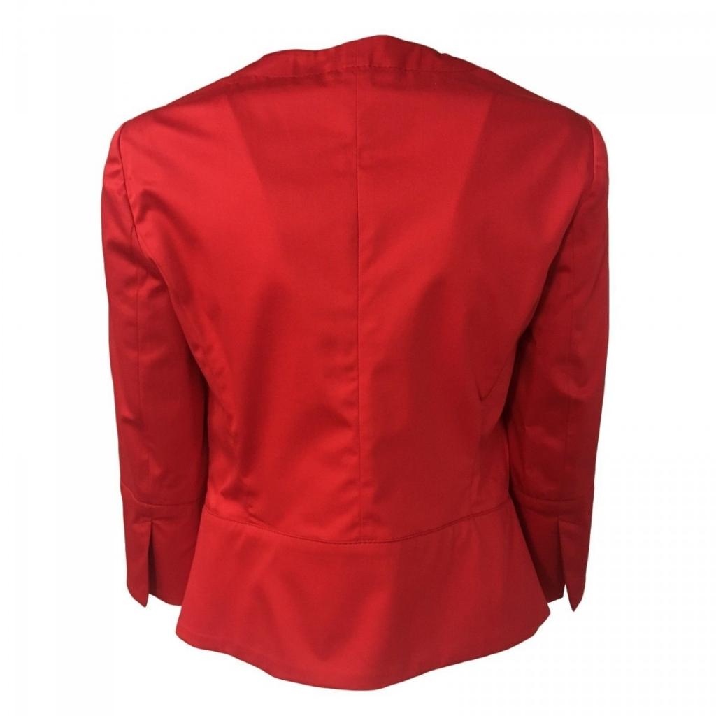 PENNYBLACK woman jacket red 3/4 sleeve mod BAGLIO 96cotton 4 elastane UNICO