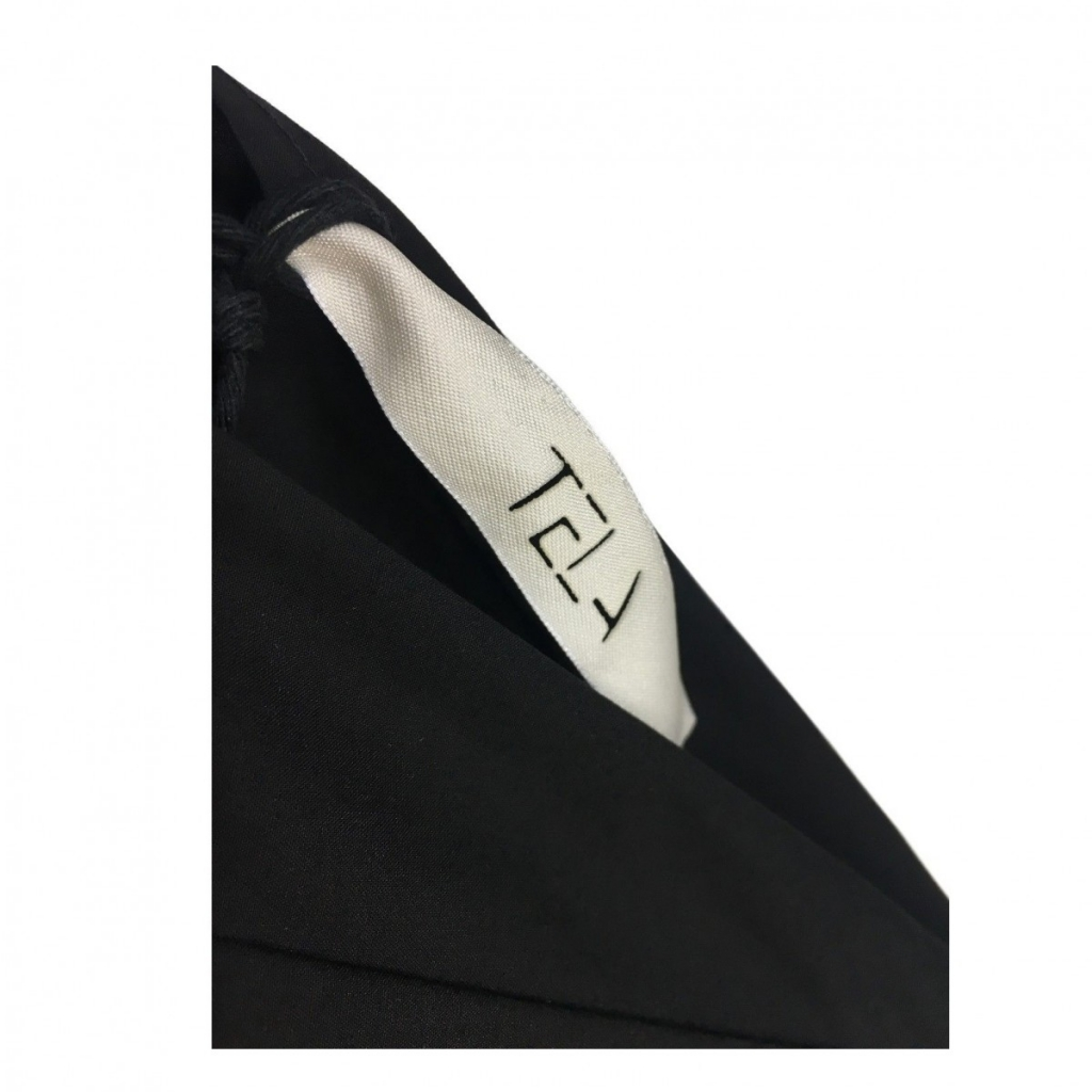 TELA abito donna nero senza manica mod REGIL 100 cotone MADE IN ITALY UNICO