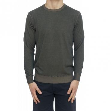 Maglia uomo - 7036/01 maglia lavata tino frost 35 - Carbone