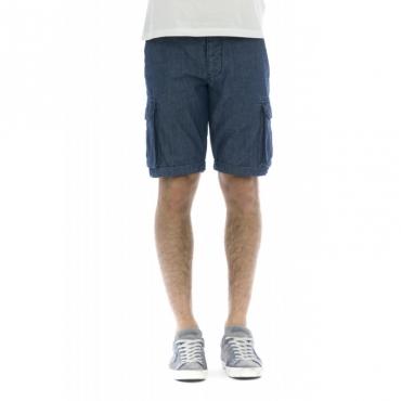 Bermuda uomo - Nick 4165 chambre DARK BLUE