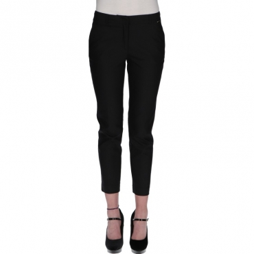 Pantaloni regular in tessuto tecnico NERO