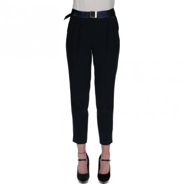 Pantaloni chino in cady BLU NOTTE