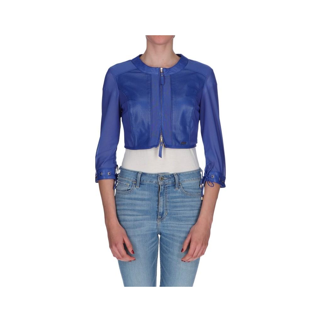 wholesale dealer 45531 e1724 Nenette - Giacchino corto in vera pelle BLU - Giacche e Cappotti |B...