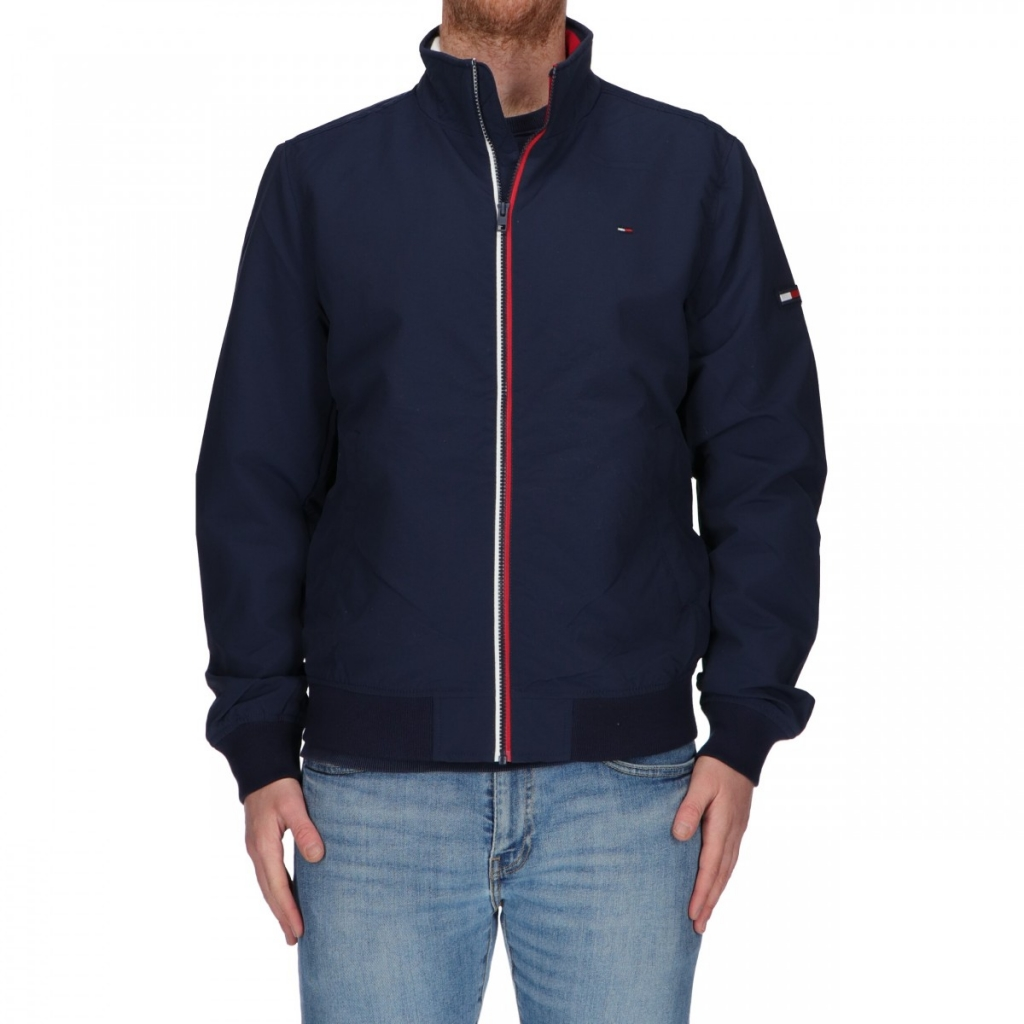 comprare popolare 46fd6 fe9ad TOMMY HILFIGER - Giacca Tommy Hilfiger Jeans Uomo Casual Bomber 002...