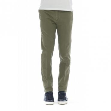 Pantalone uomo - Dl01z tu64 super slim strech microstruttura 455 - Salvia