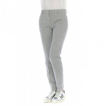 Pantalone donna - 171703 d6256 leyre slim righina 820 - Blu
