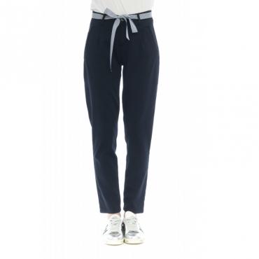 Pantalone donna - Loni pantalone pence 74097 - Blu